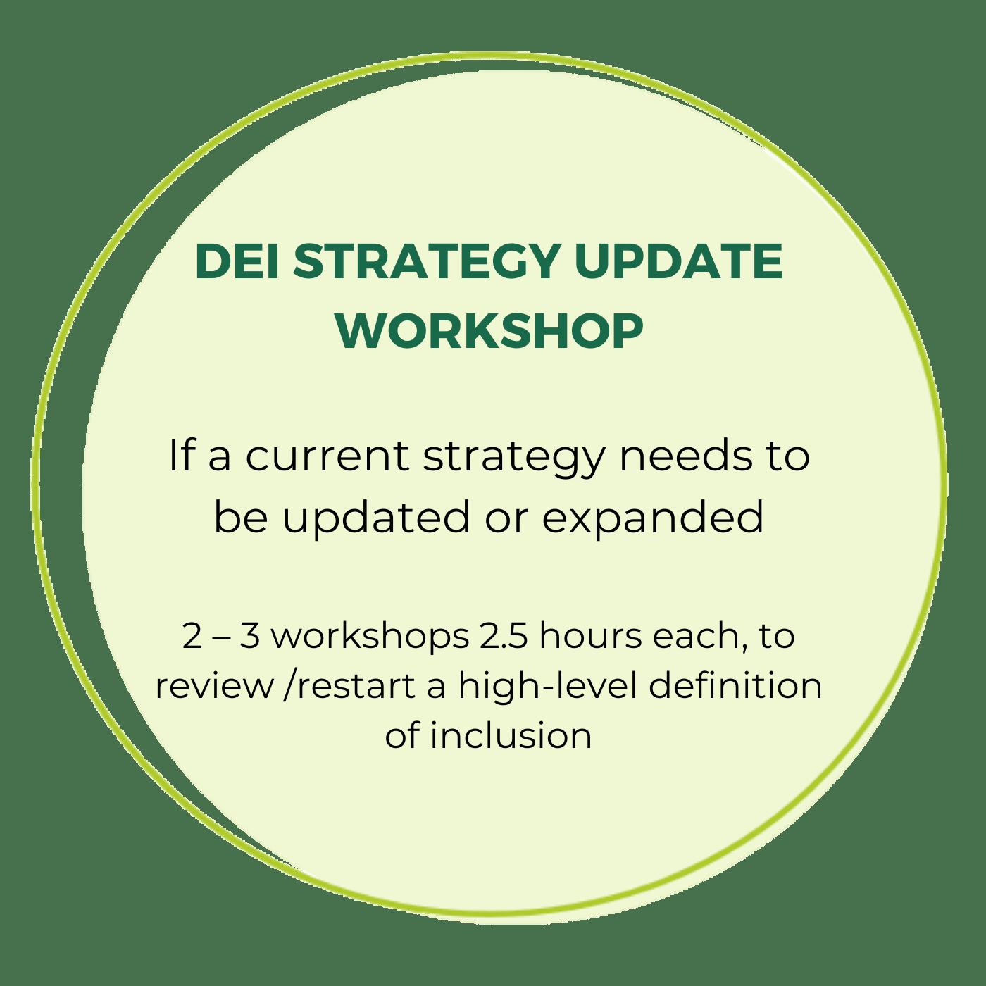 DEI strategy update workshop 1